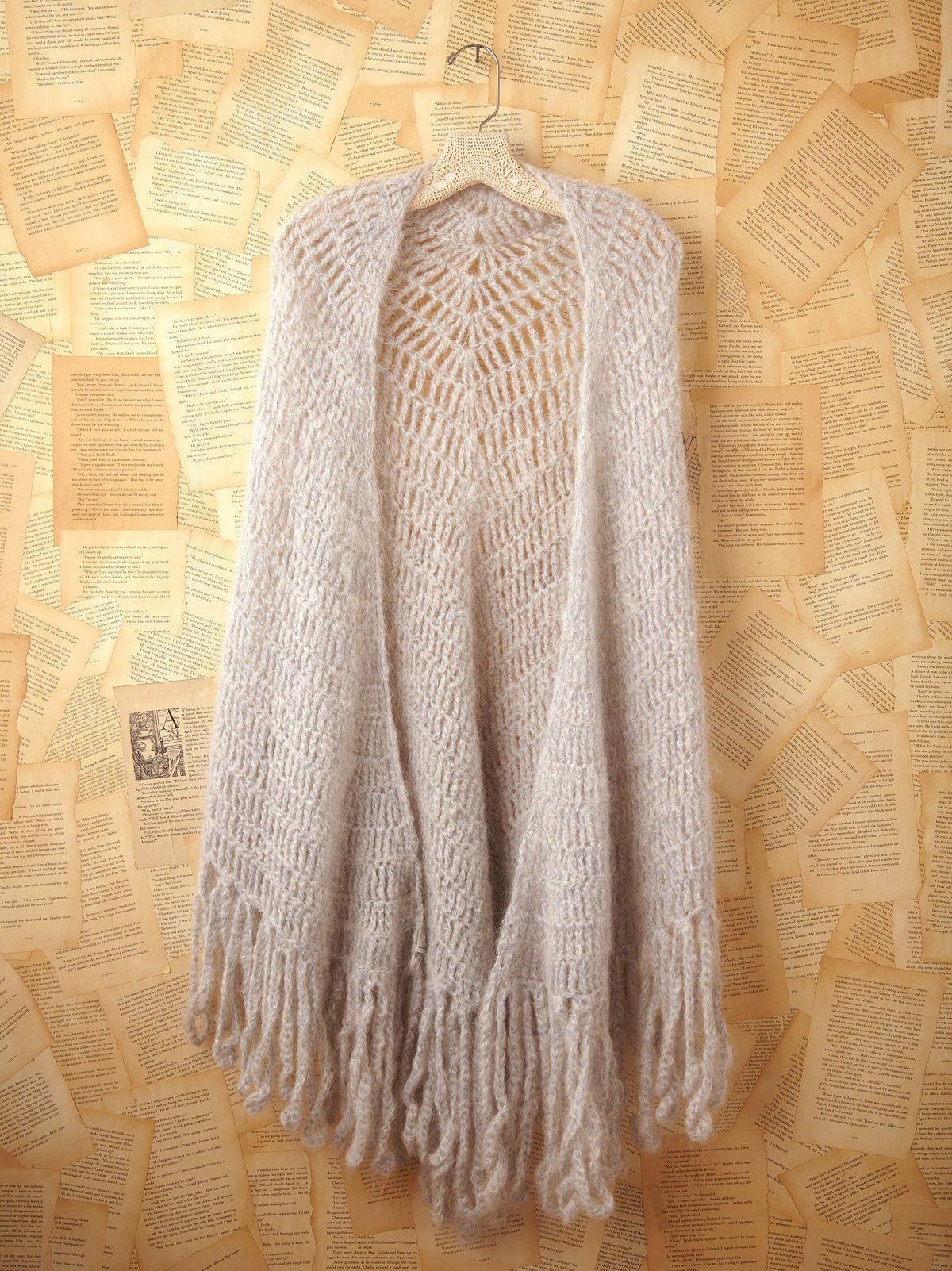 Vintage Grey Knit Shawl