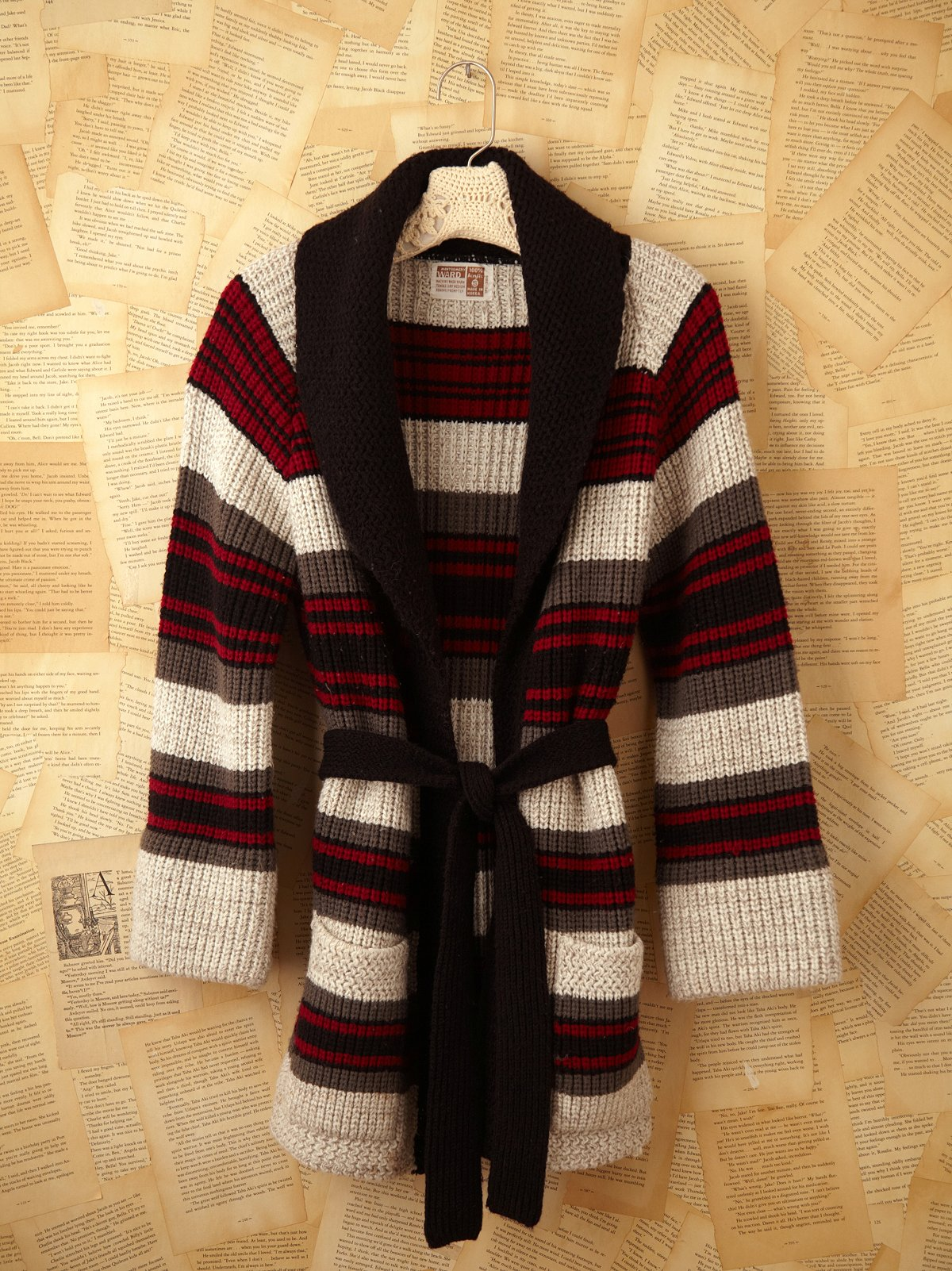 Vintage Long Belted Sweater