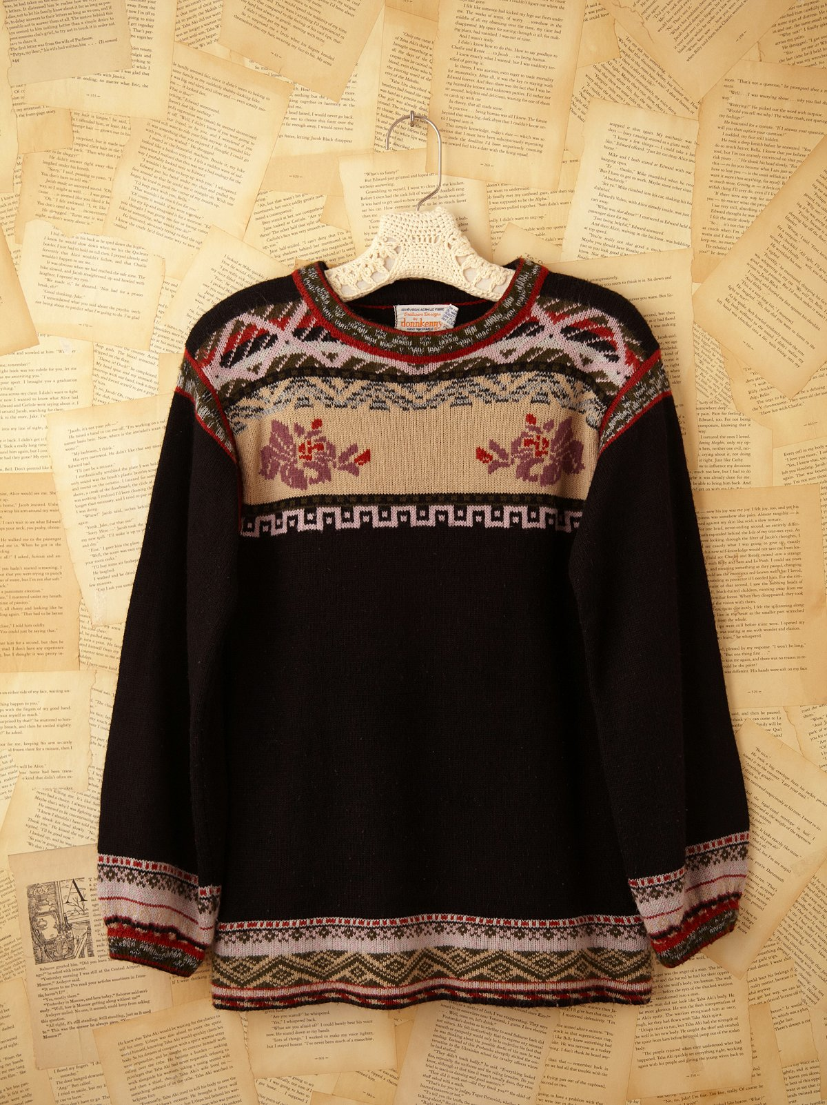 Vintage Crewneck Flower Sweater
