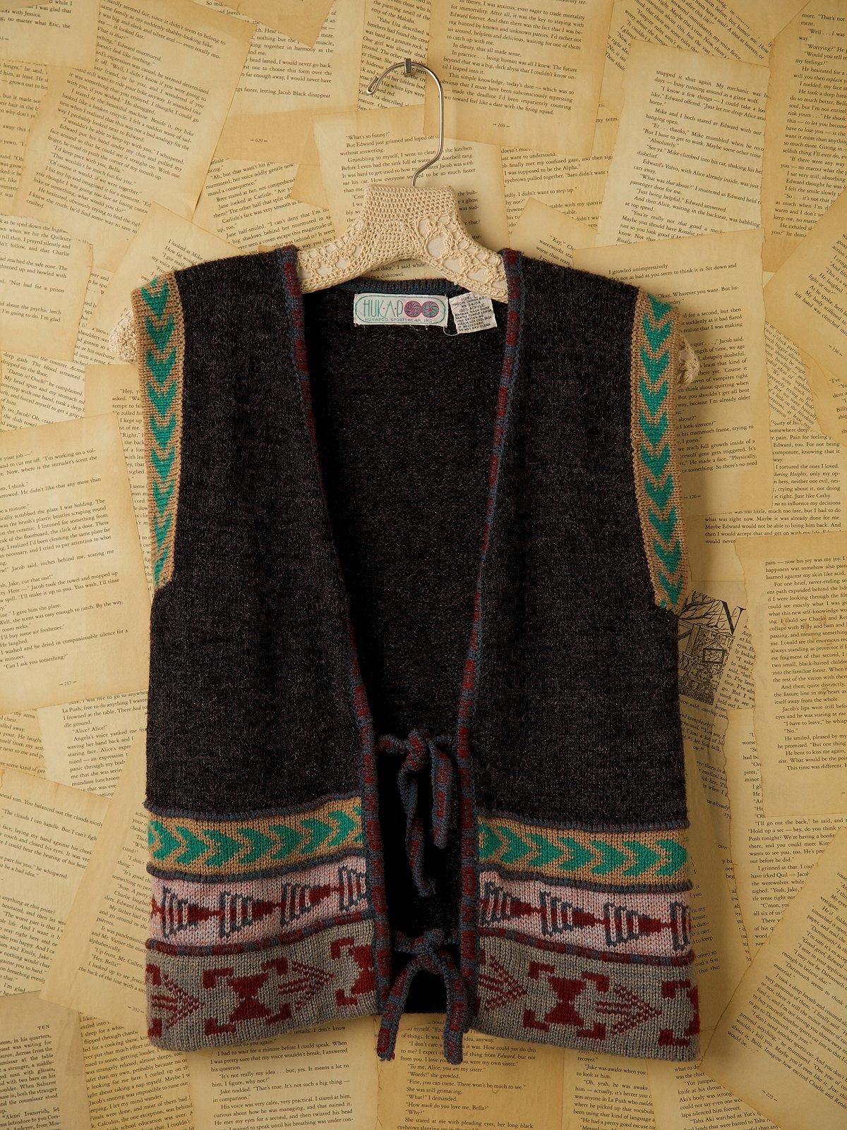 Vintage Tie Close Sweater Vest