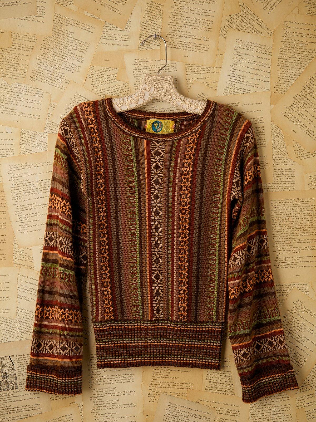 Vintage Multicolored Crew Neck Sweater