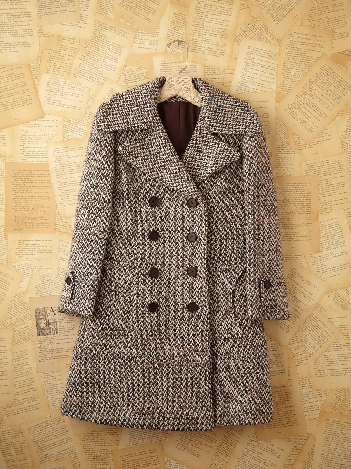 Vintage Tweed Pea Coat