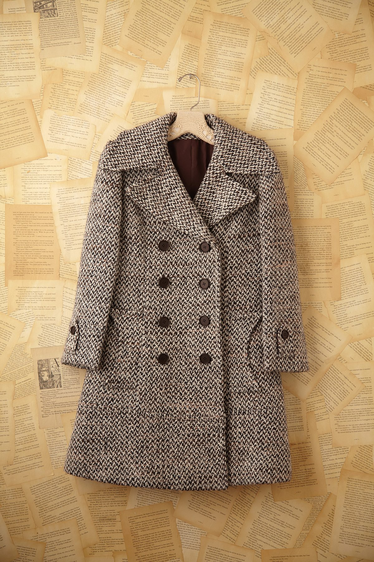Vintage Tweed Pea Coat