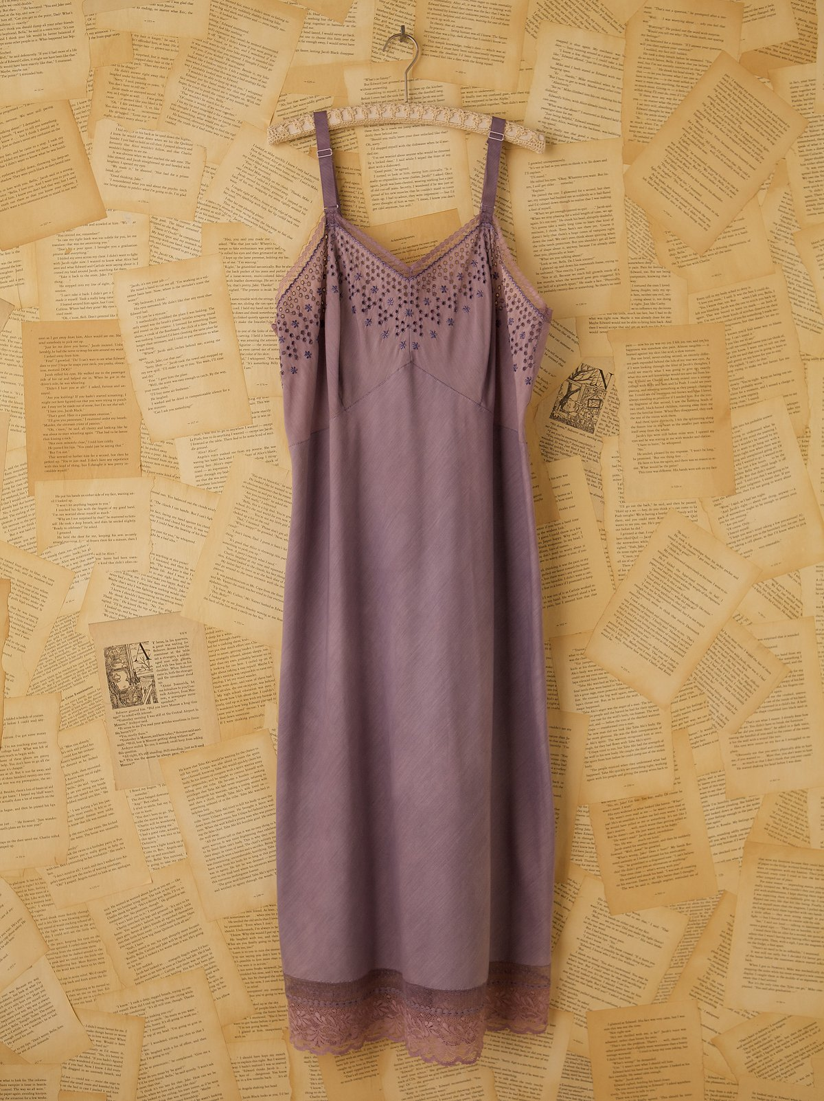 Vintage Purple Silk Slip Dress