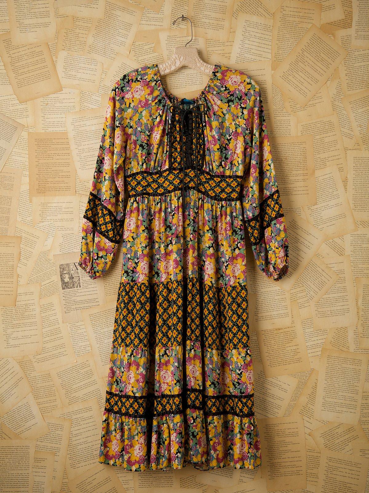Vintage Ragtime Floral Dress