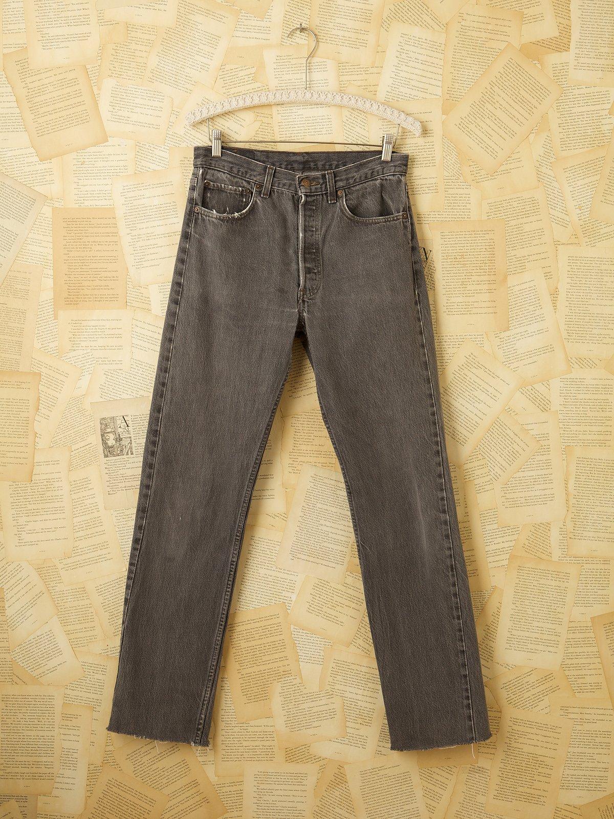 Vintage Levi 501 Grey Jeans