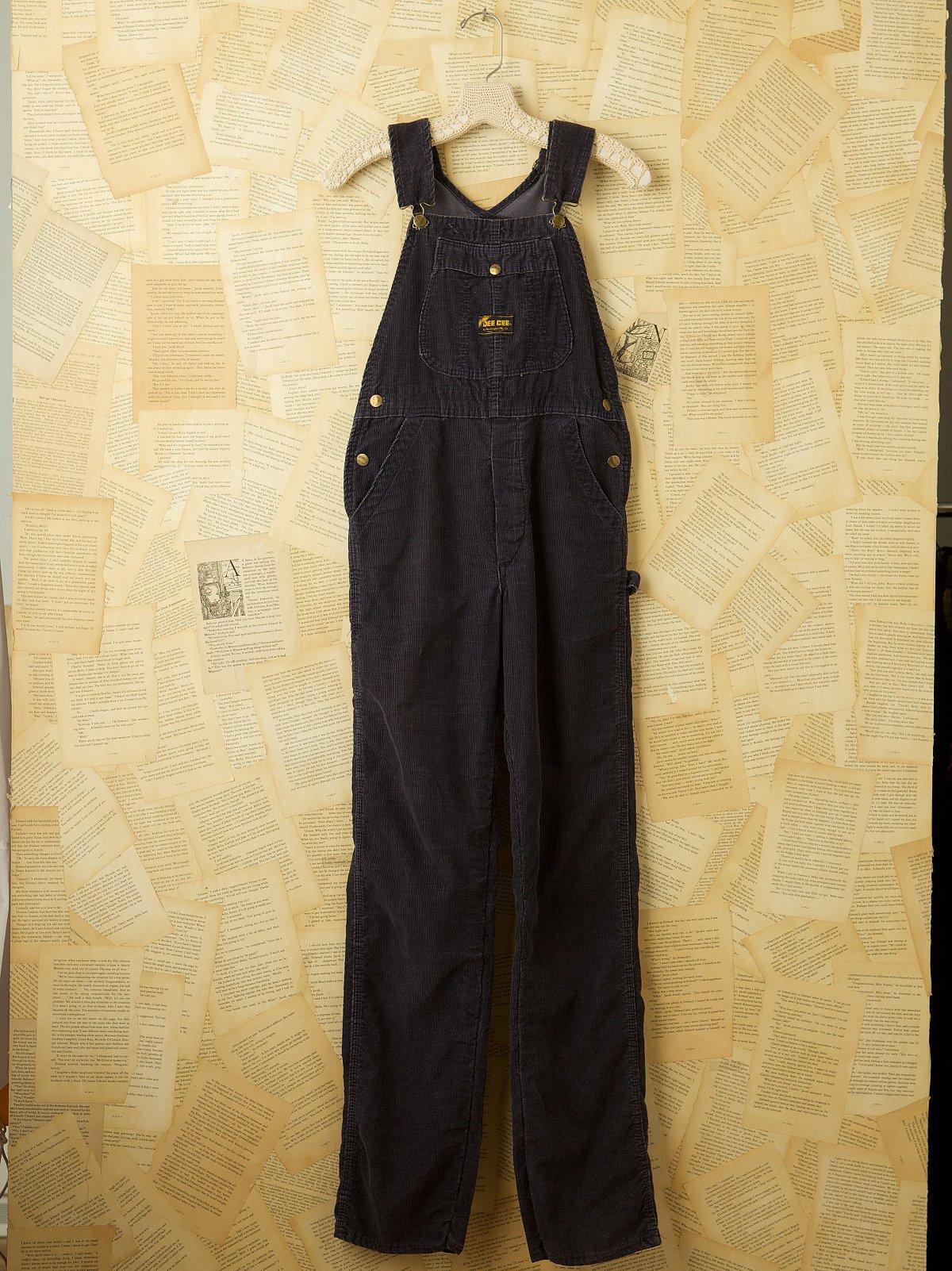 Vintage Navy Corduroy Overalls