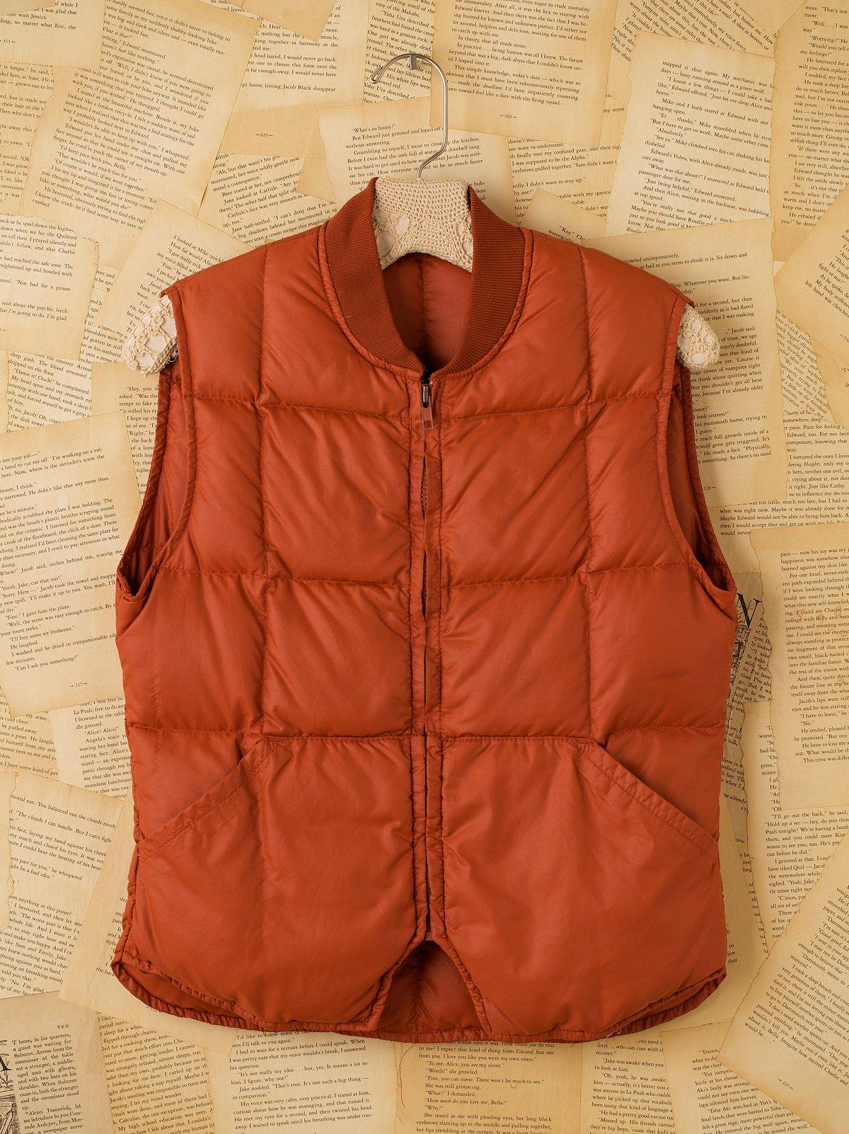 Vintage Orange Quilted Vest
