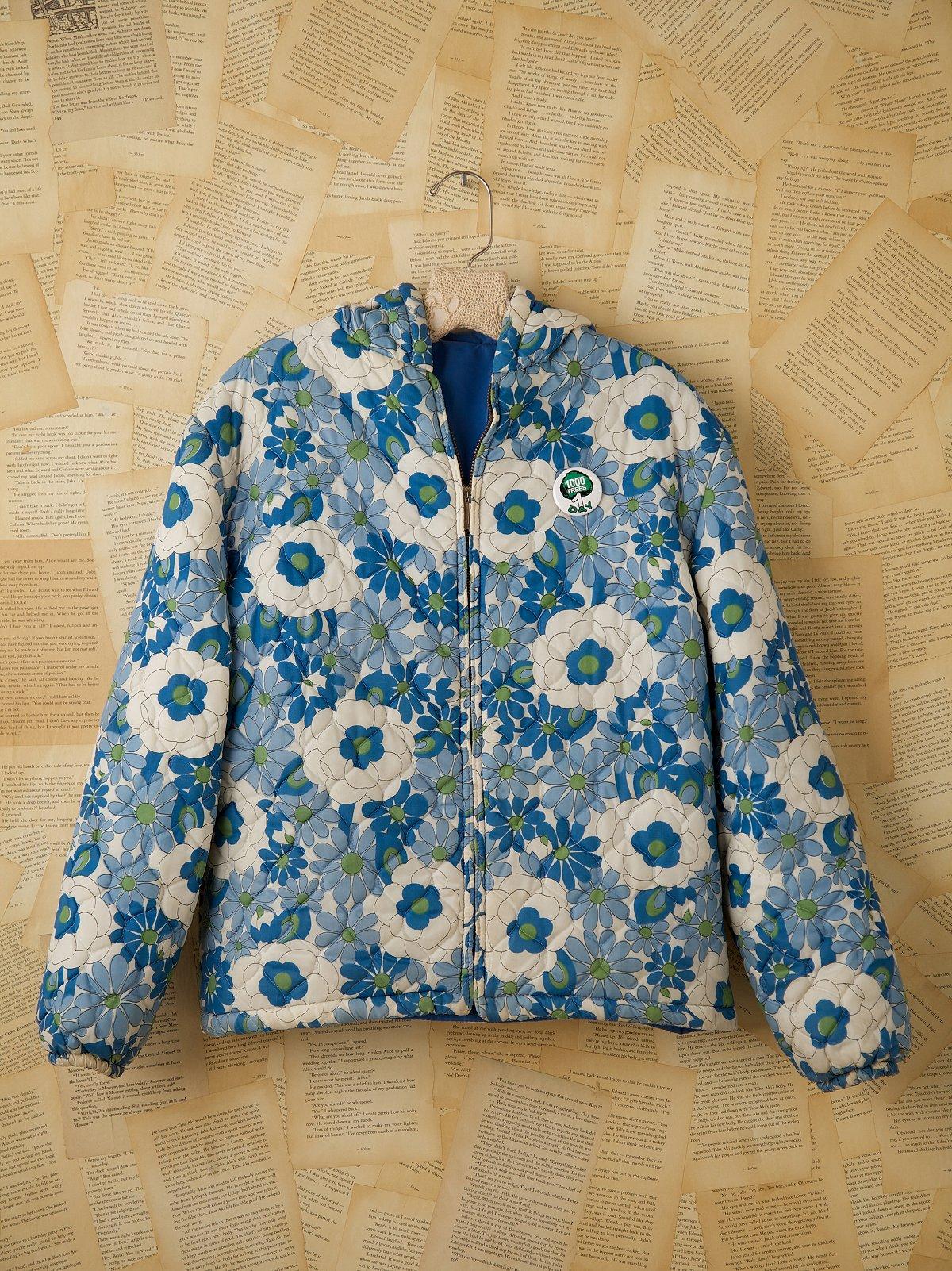 Vintage Floral Puff Jacket