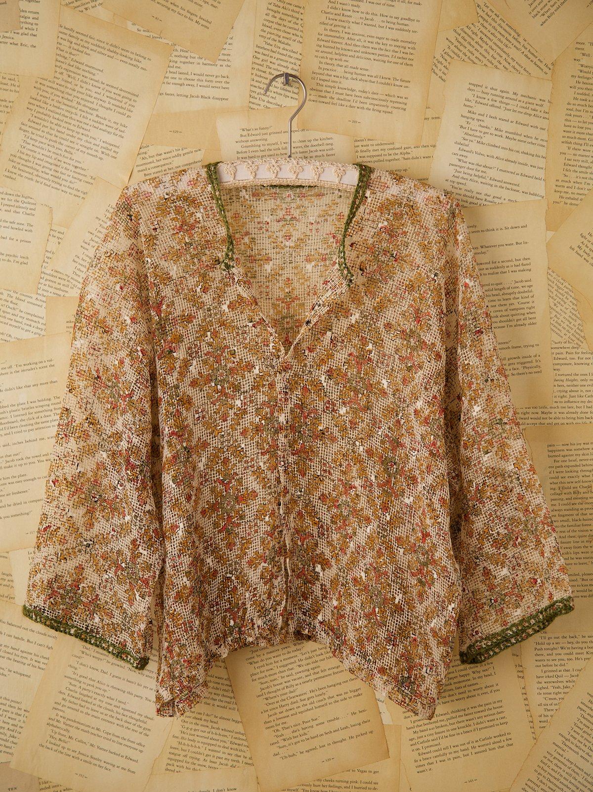 Vintage Sheer Snap Front Shirt
