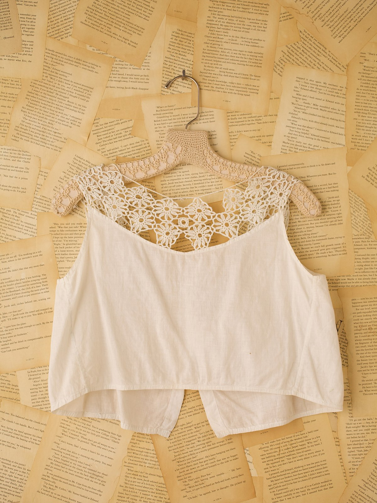 Vintage Cami with Crocheted Top