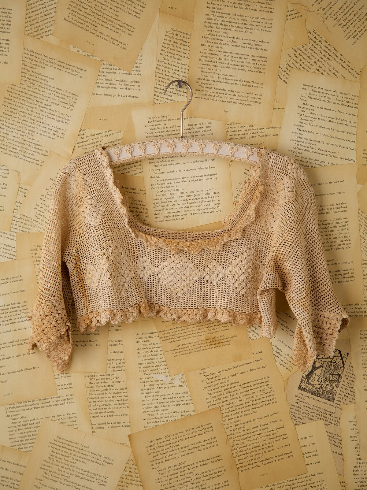 Vintage Crocheted Yoke Top