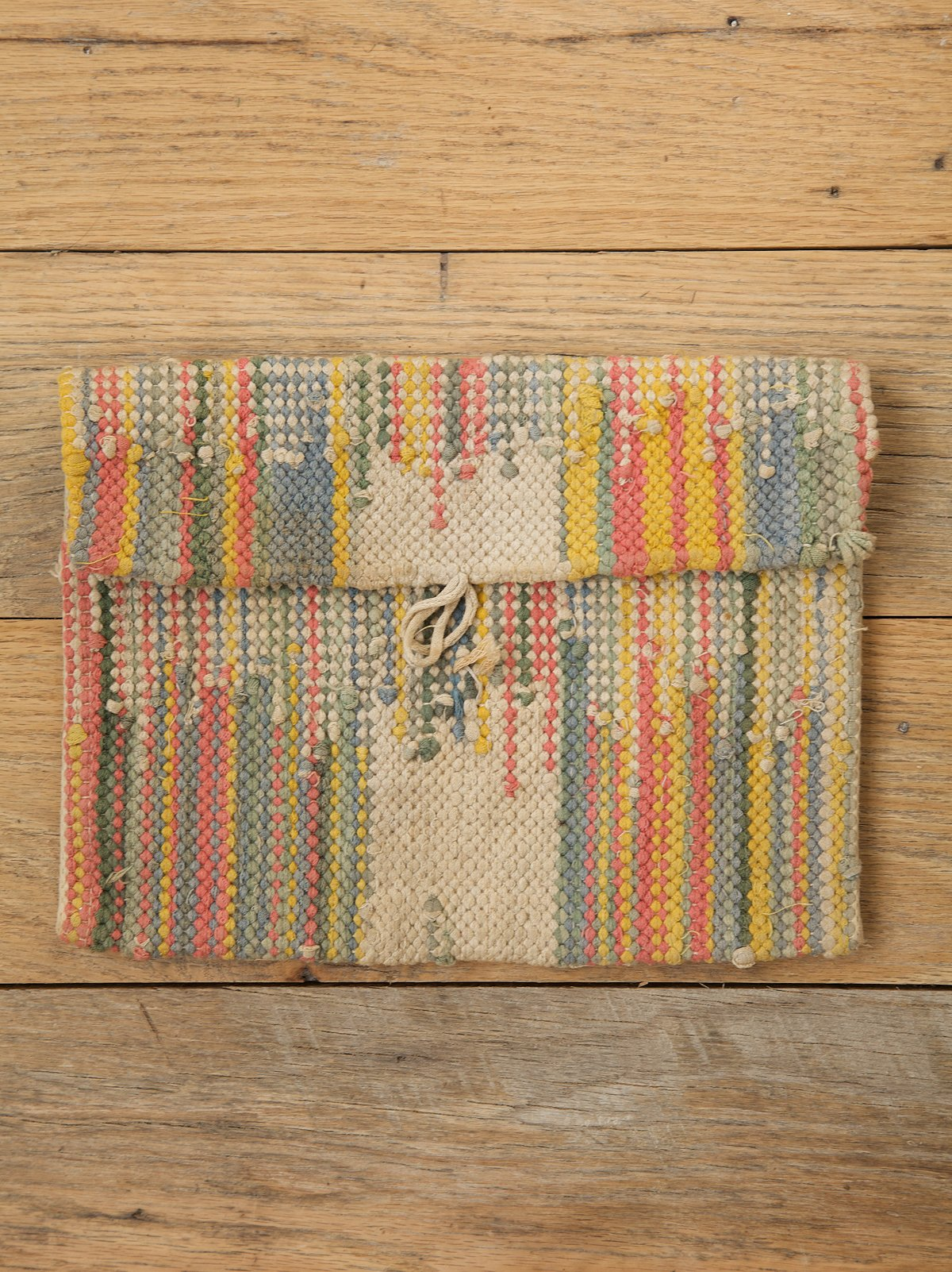 Vintage Multi-Colored Woven Clutch