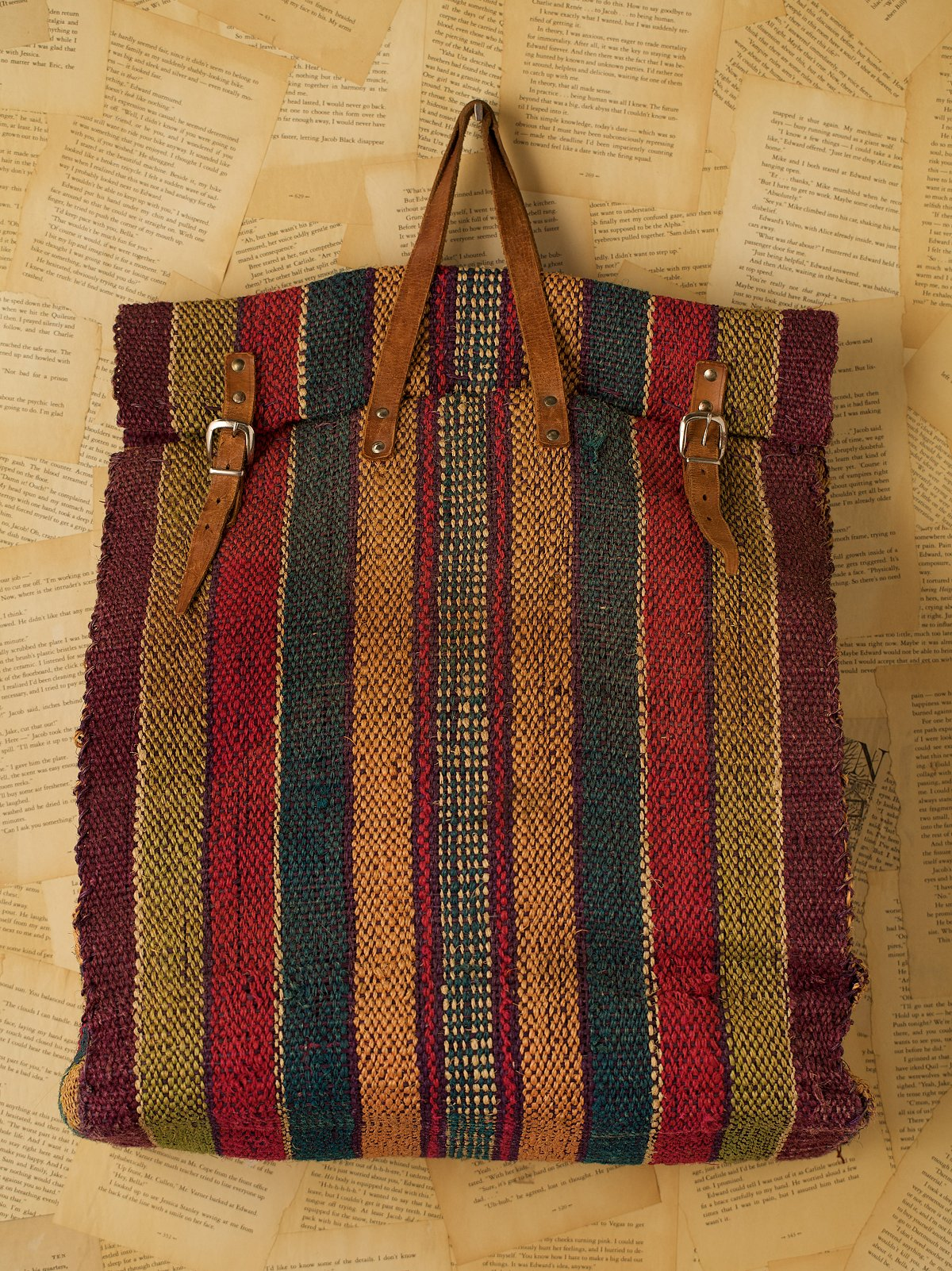 Vintage Oversized Straw Market Bag