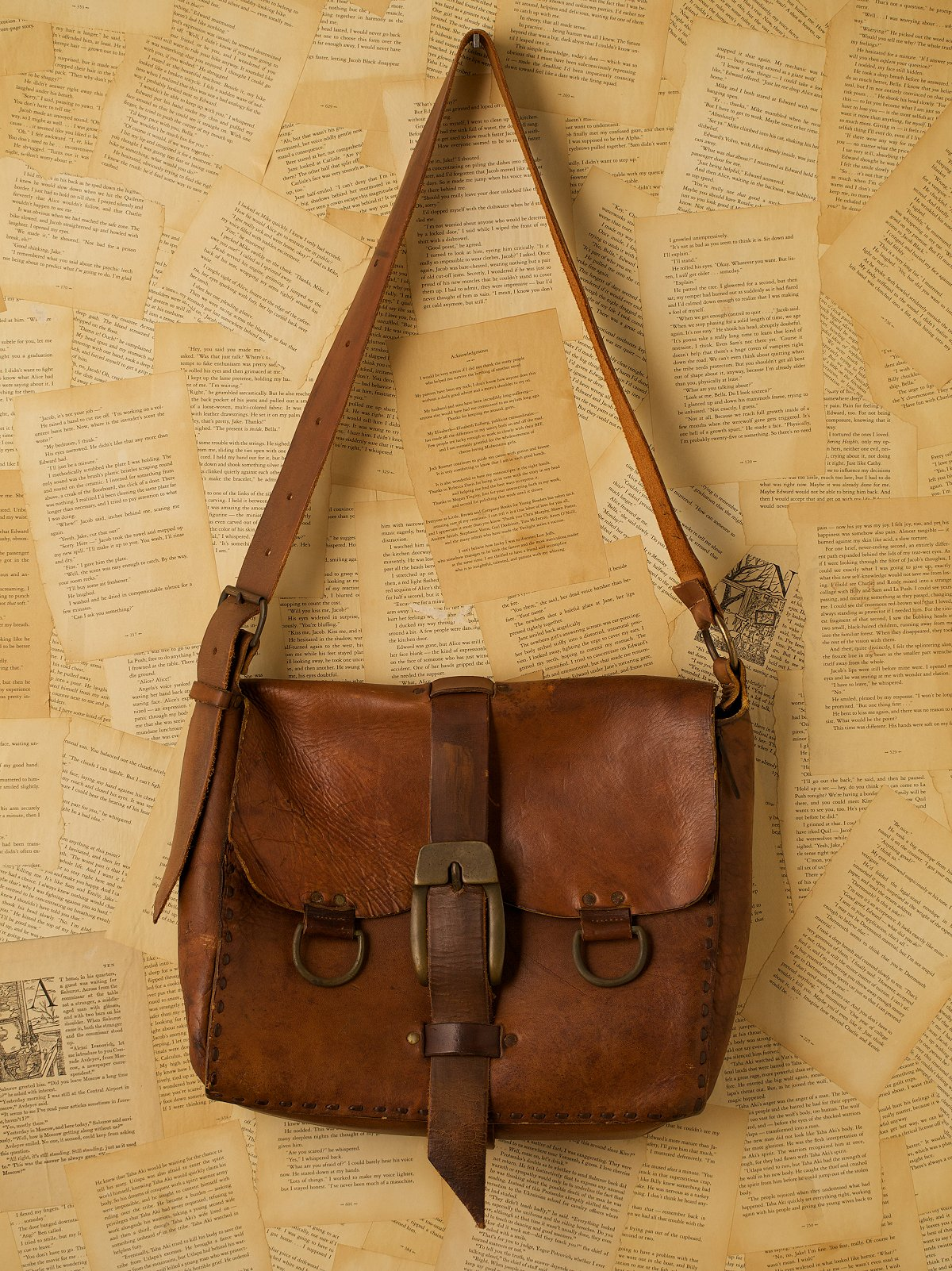 Vintage Large Leather Mail Bag