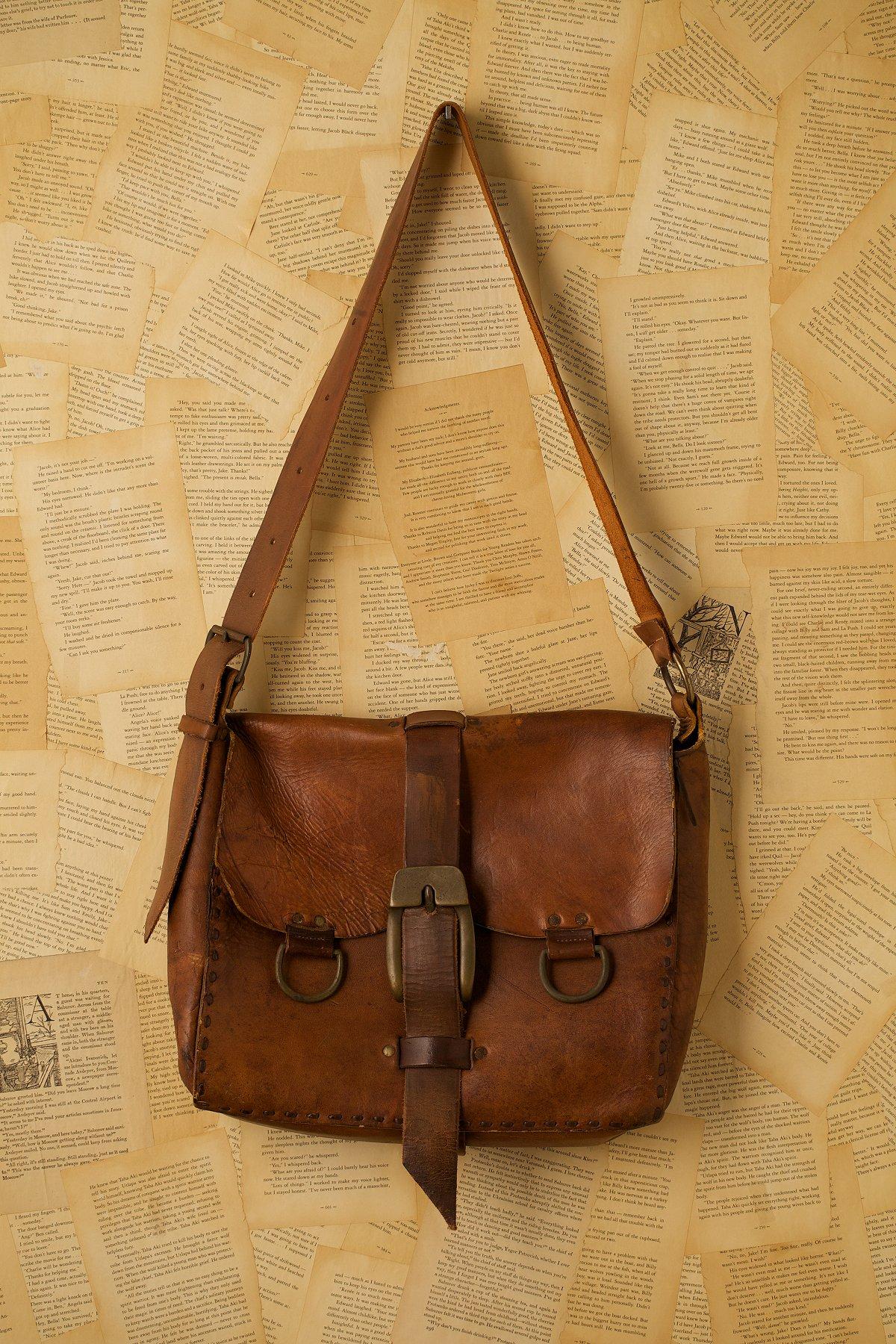 Vintage Large Leather Mail Bag