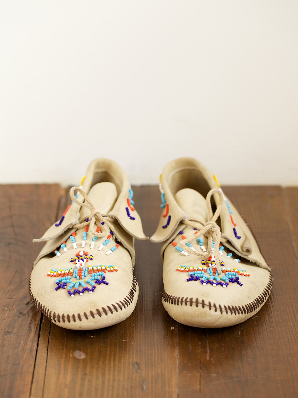 Vintage Beaded Moccasins