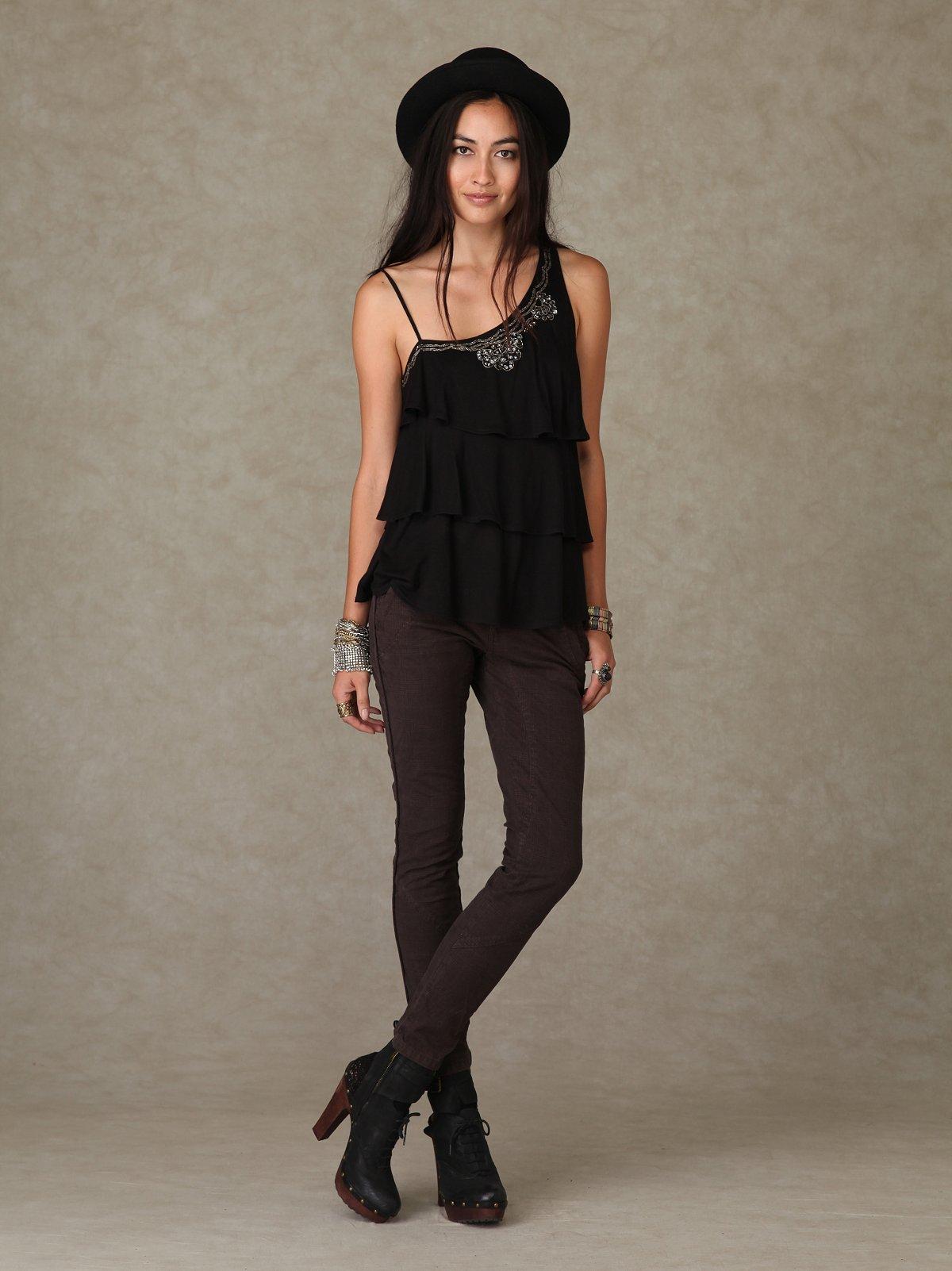 Jodphur Style Plaid Skinny