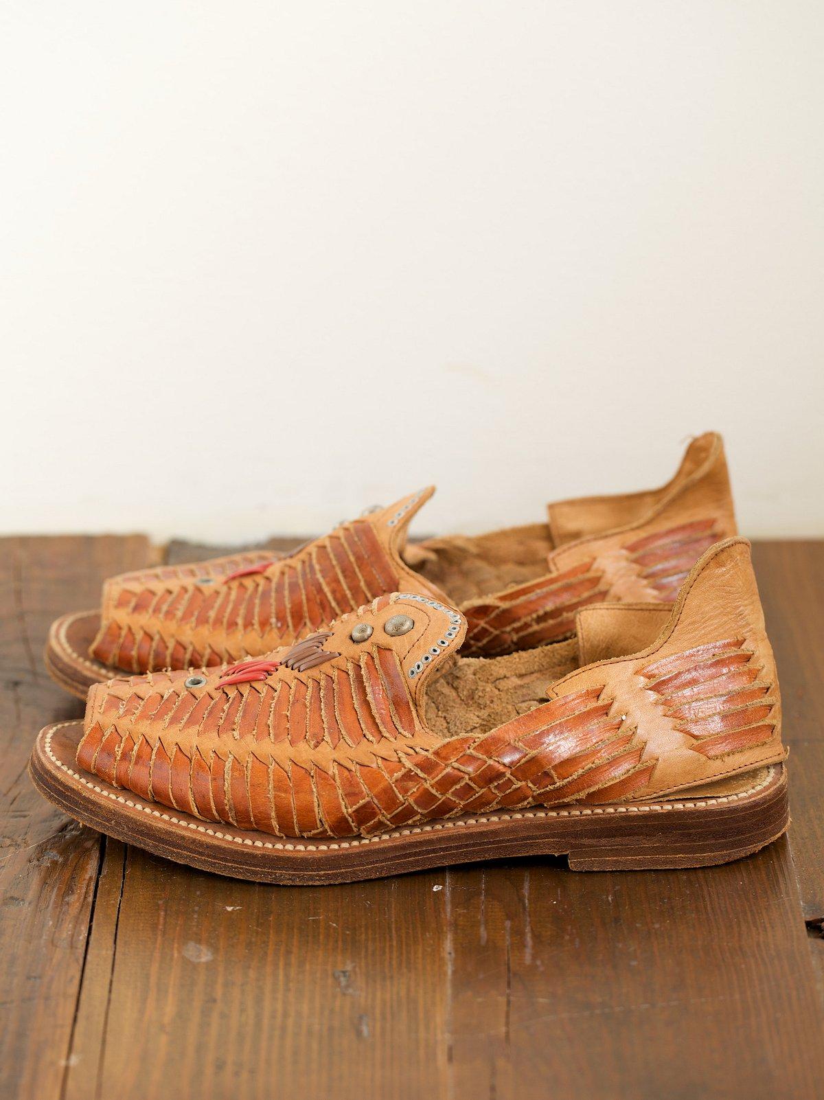Handmade Woven Leather Slip Ons