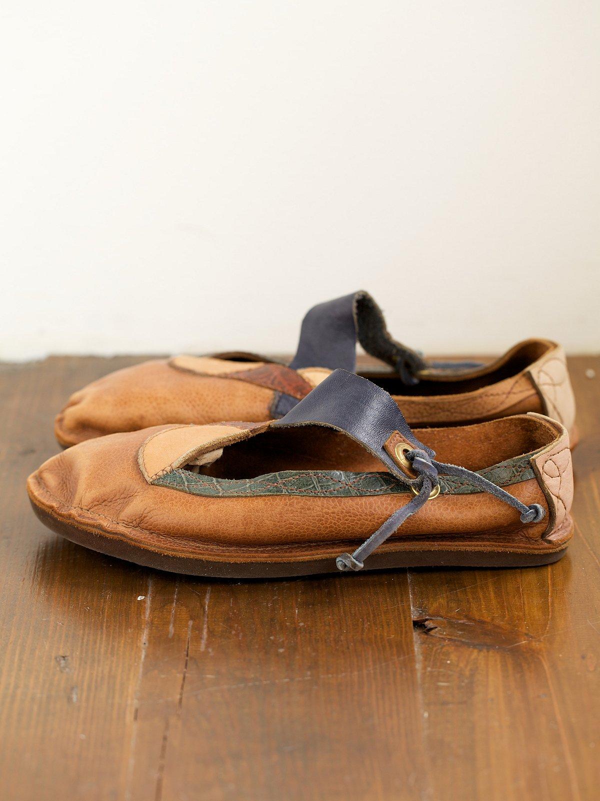 Vintage Handmade Leather Flats