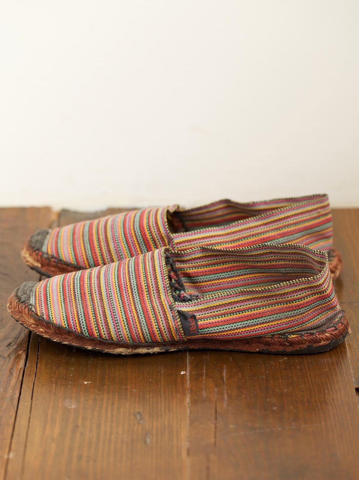 Vintage Multicolored Woven Espadrilles