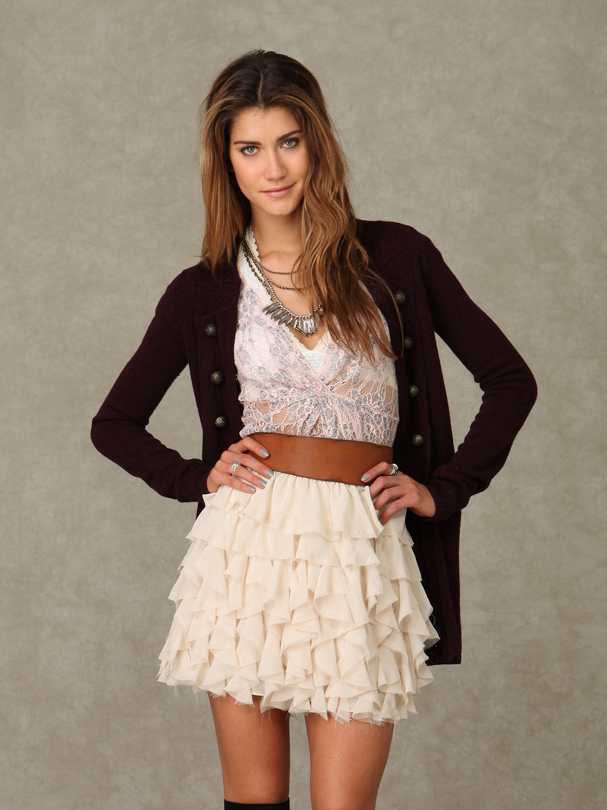 Chiffon Ruffles Skirt