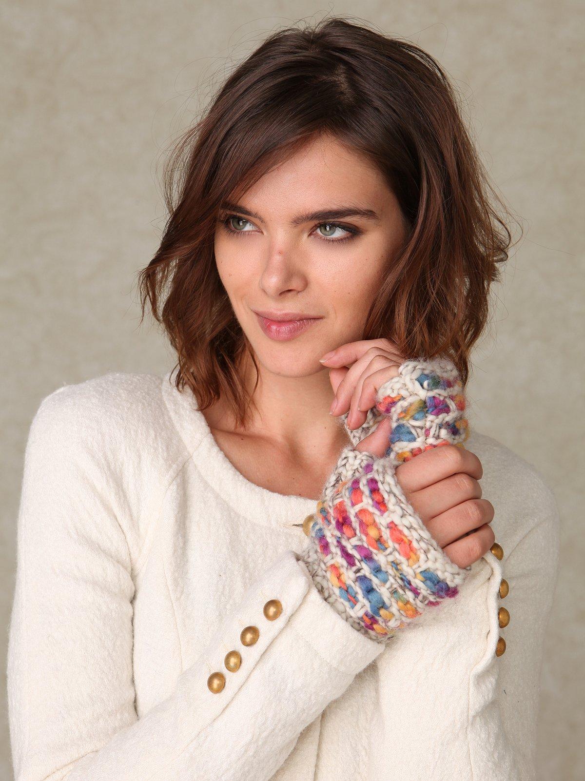 Lila Fingerless Glove