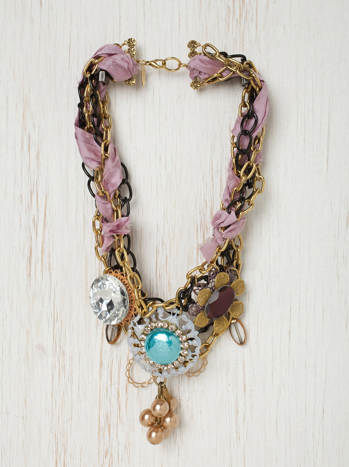 Pink Ribbon Glam Necklace