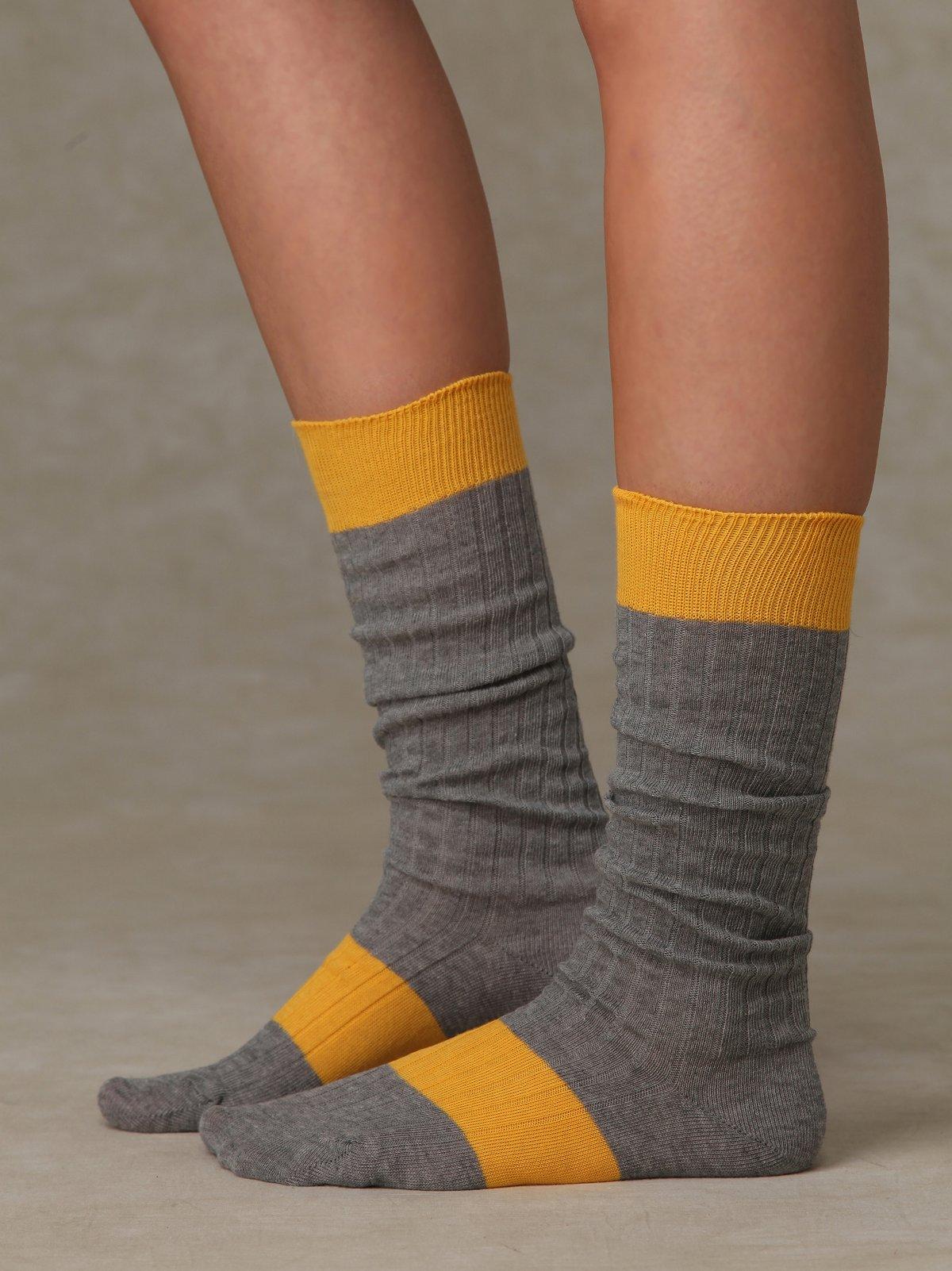 Sport Stripe Slouch Sock