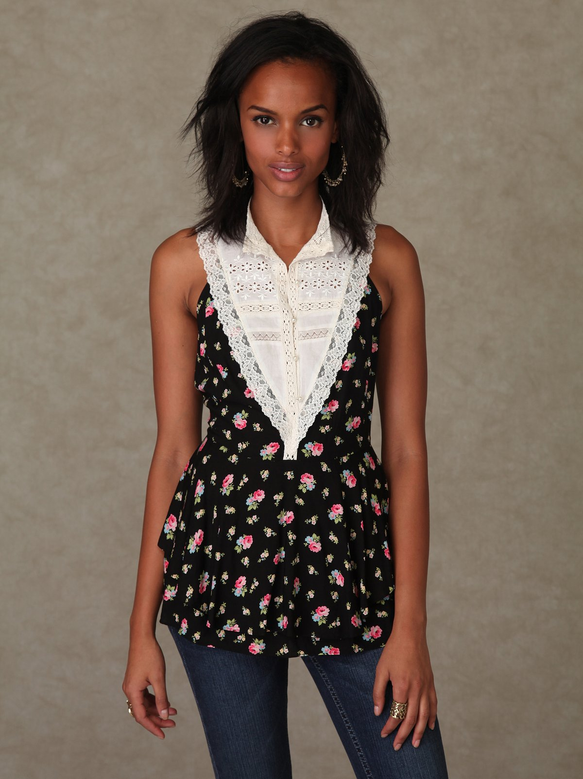 Floral Applique Tank