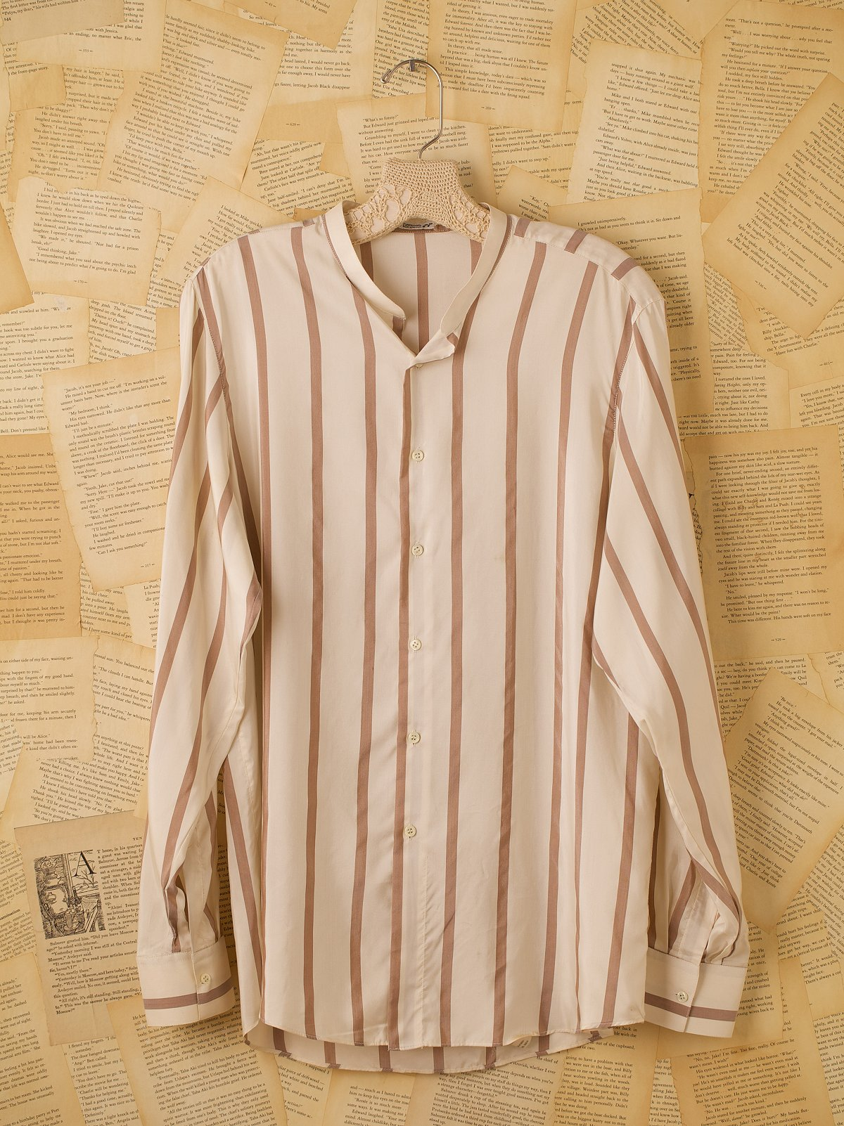 Vintage Long Sleeve Silk Shirt