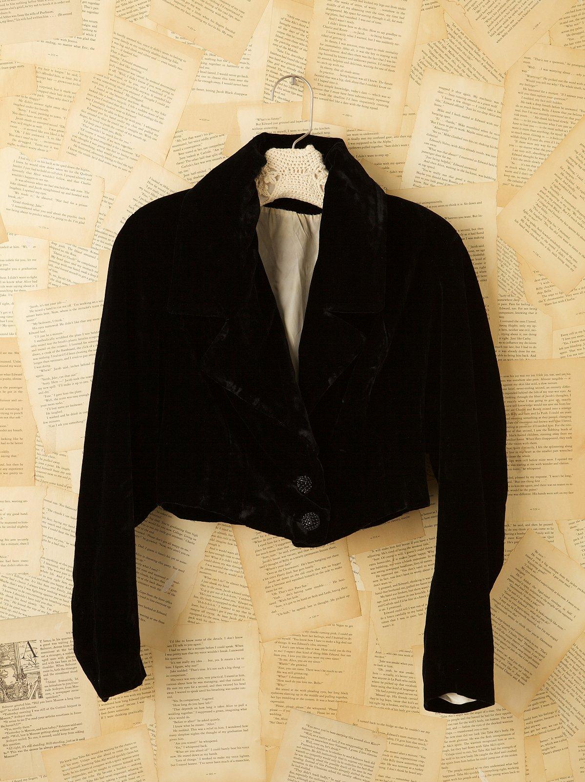Vintage Crushed Velvet Jacket