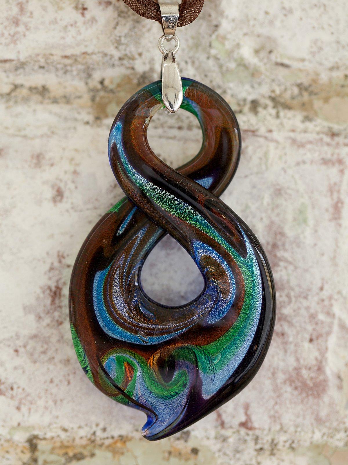 Vintage Large Handblown Figure 8 Necklace