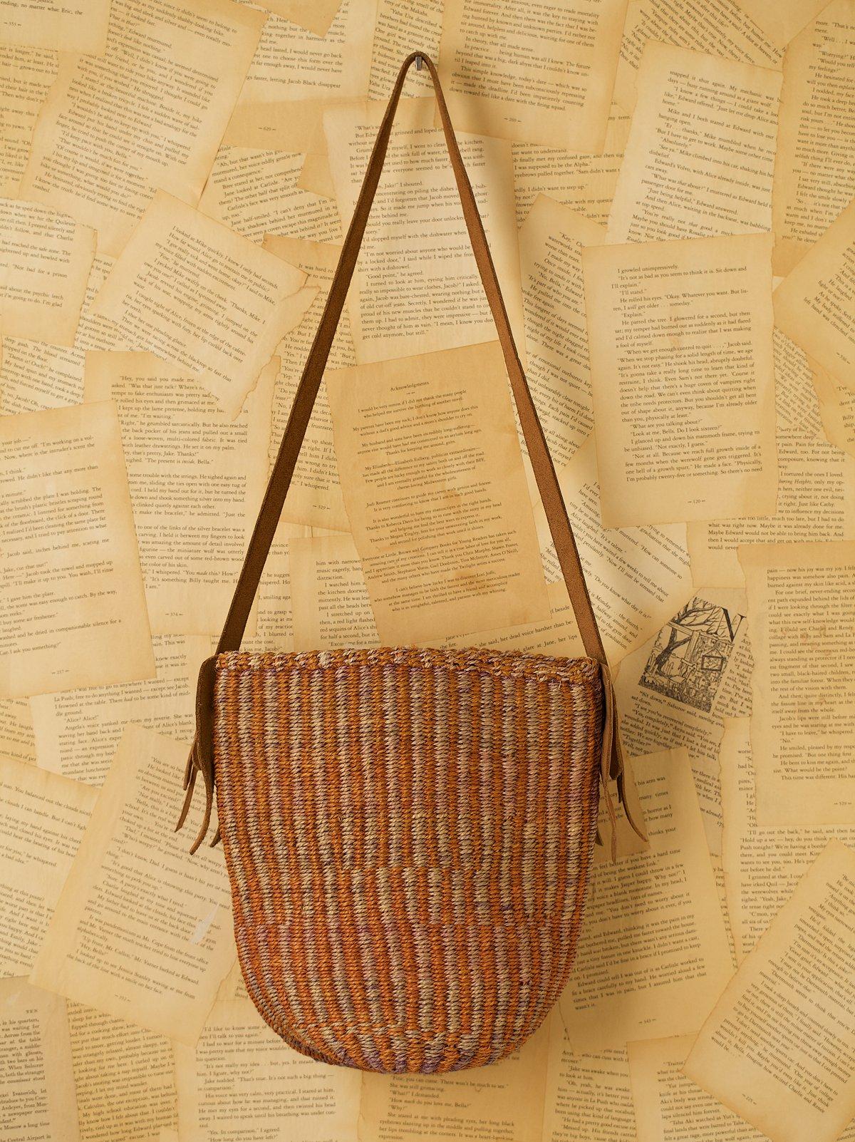 Vintage Woven Straw Market Bag