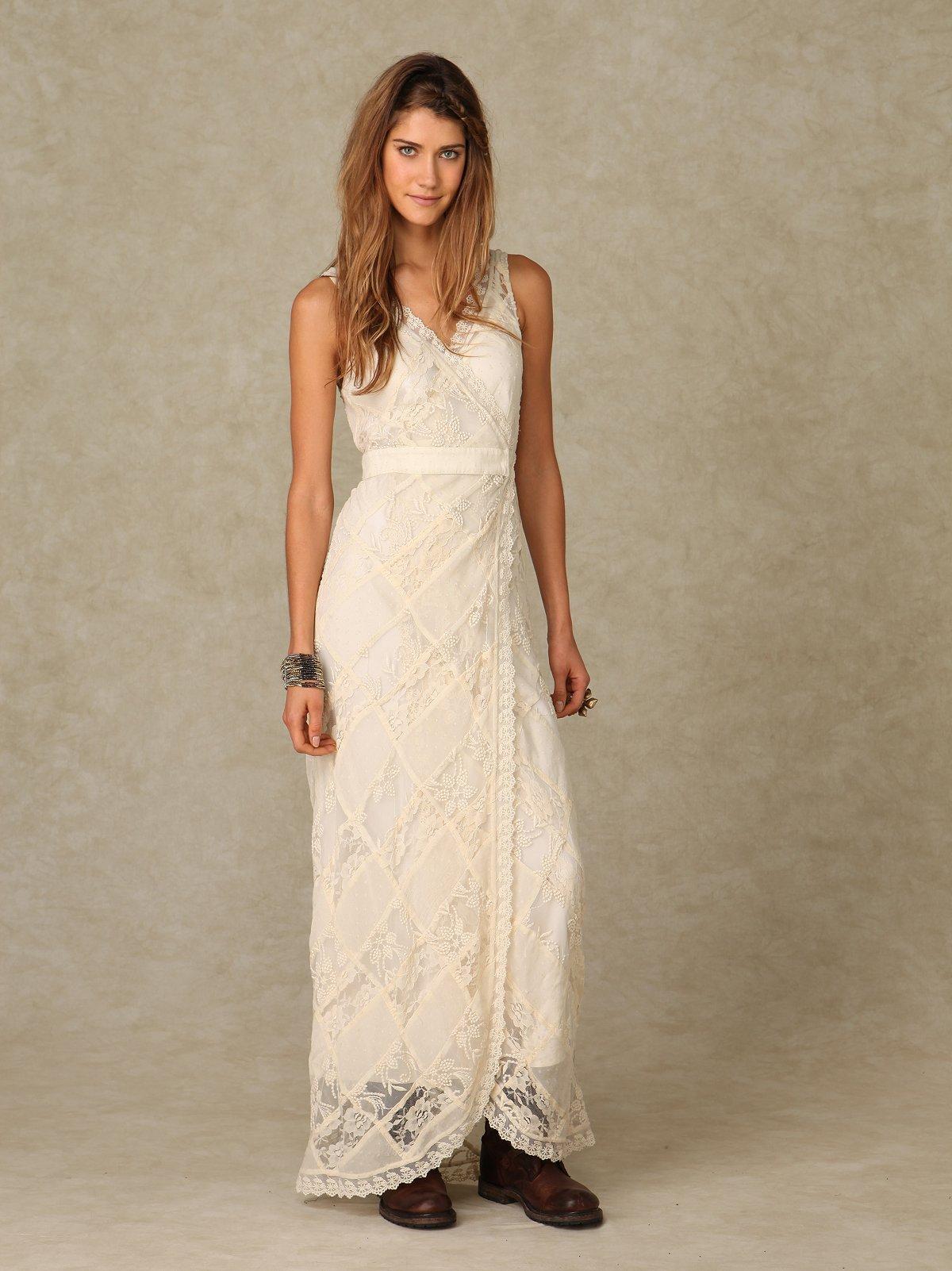 Lace Maxi Patchwork Dress