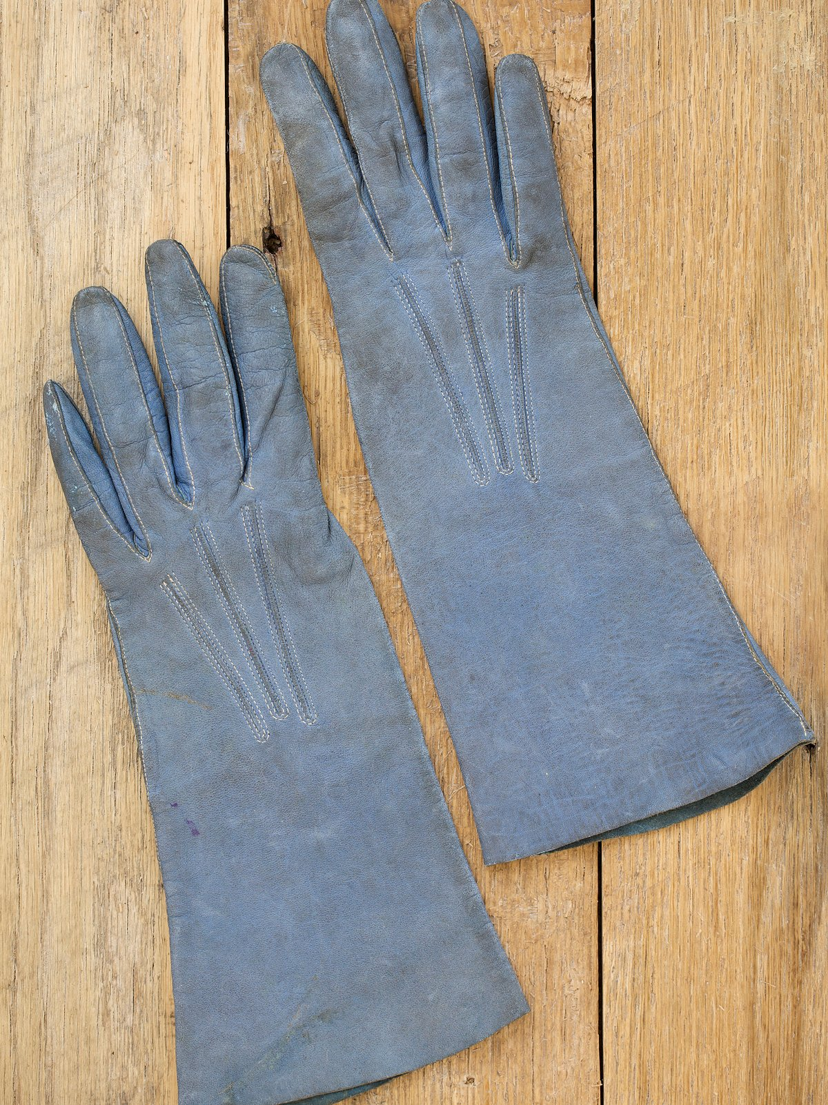 Vintage 1920s Long Leather Gloves