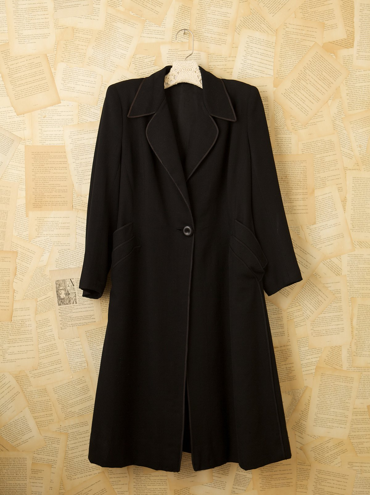 Vintage 1950s One Button French Wool Coat