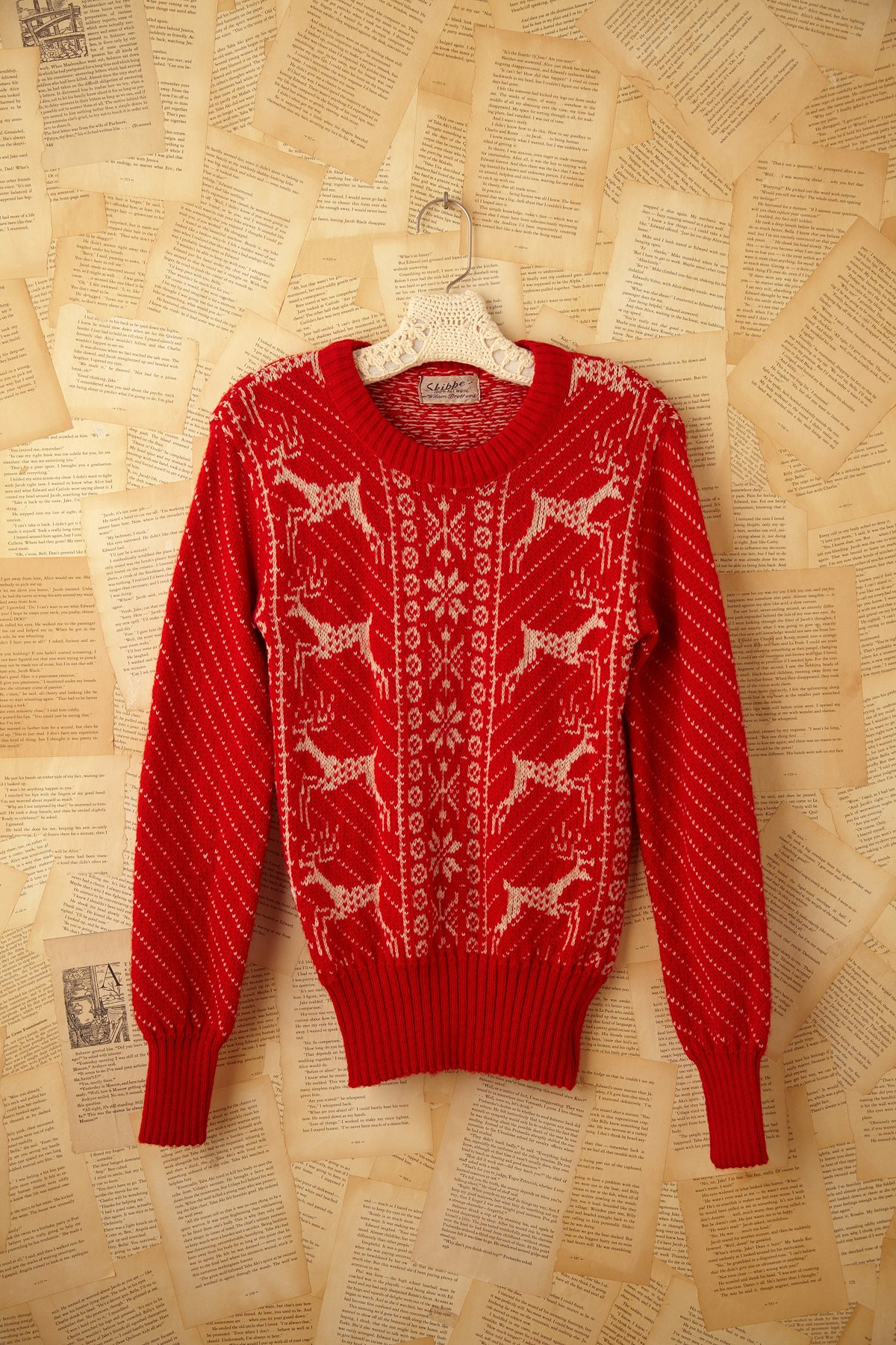 Vintage 1970s Deer Print Sweater