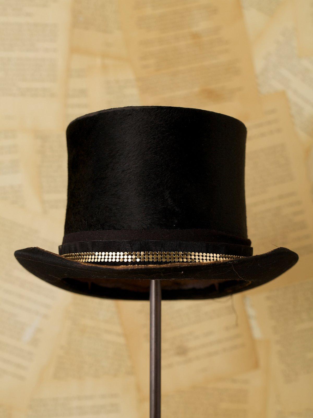 Vintage Victorian Top Hat