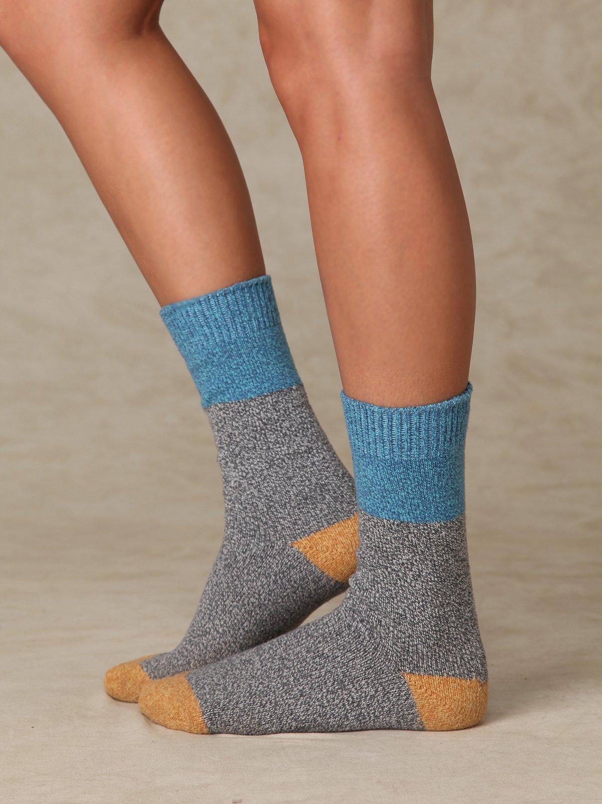 Color Block Boot Sock