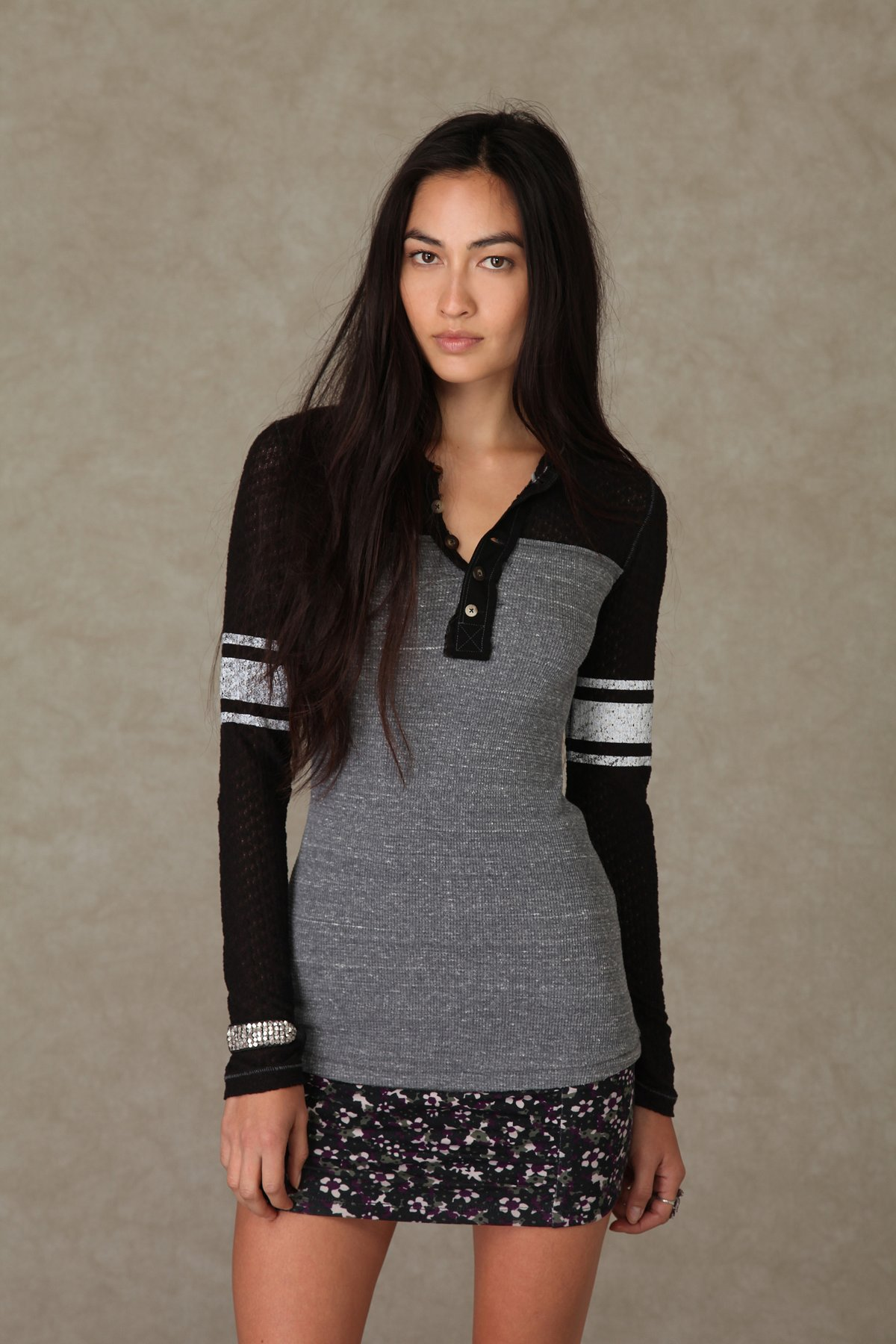 We the Free Long Sleeve Lace Rocker Thermal
