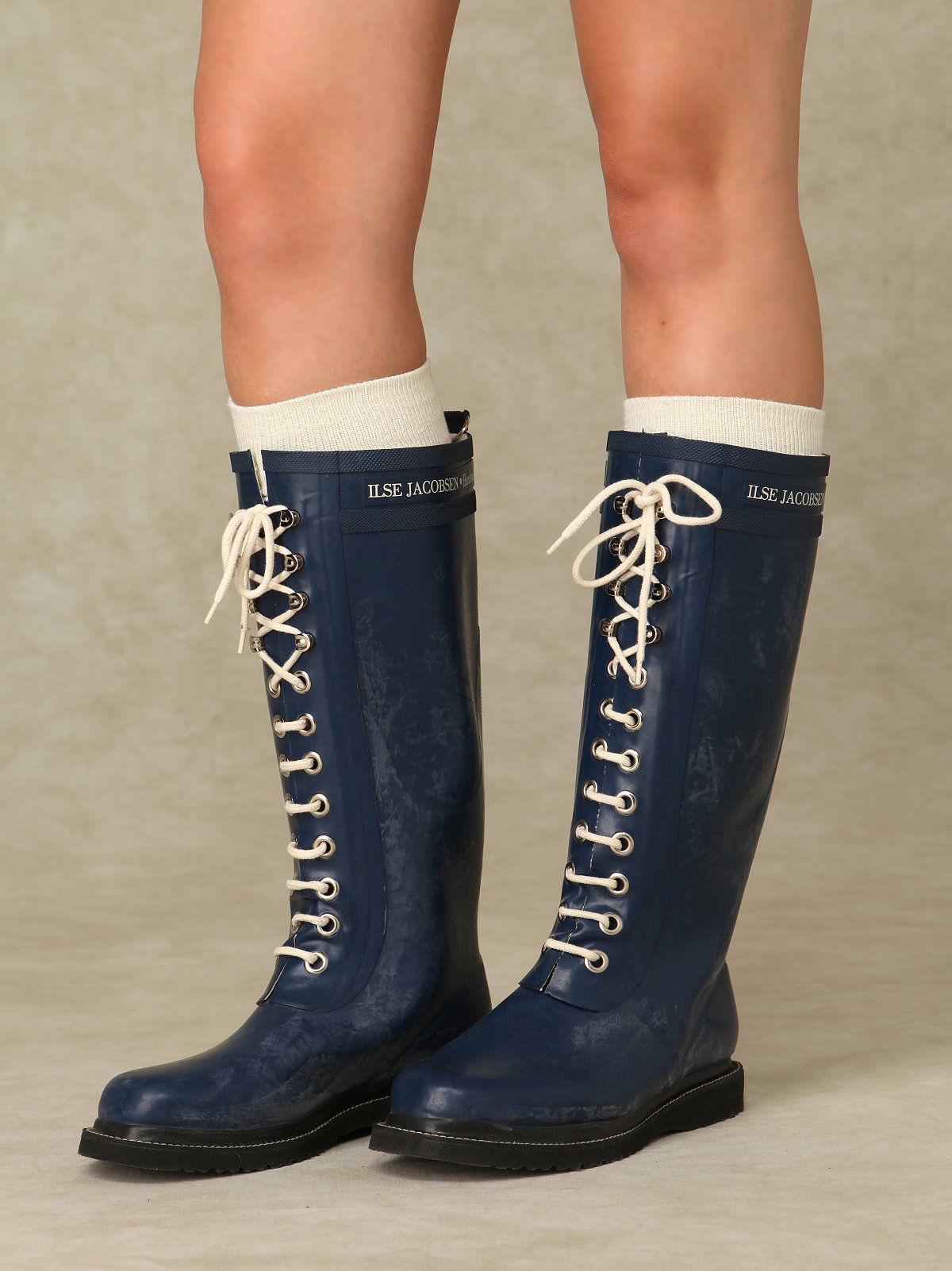 Ilse Lace Up Rain Boots at Free People Clothing Boutique