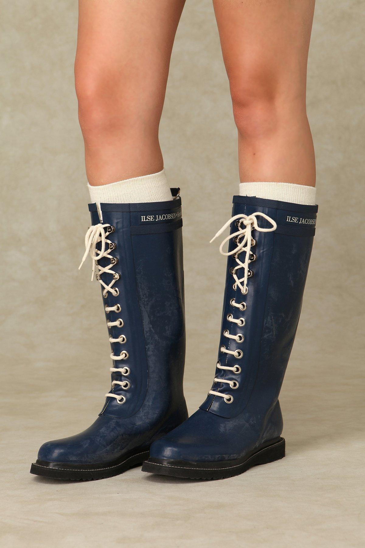 Ilse Lace Up Rain Boots