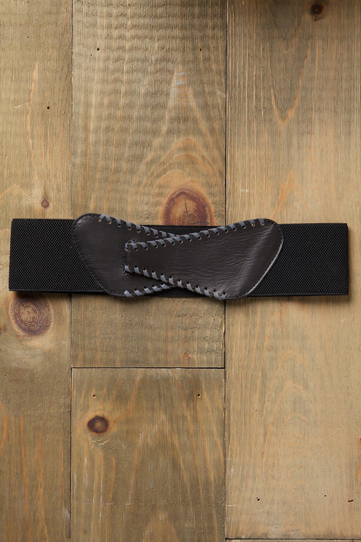 Whipstitch Stretch Waist Belt