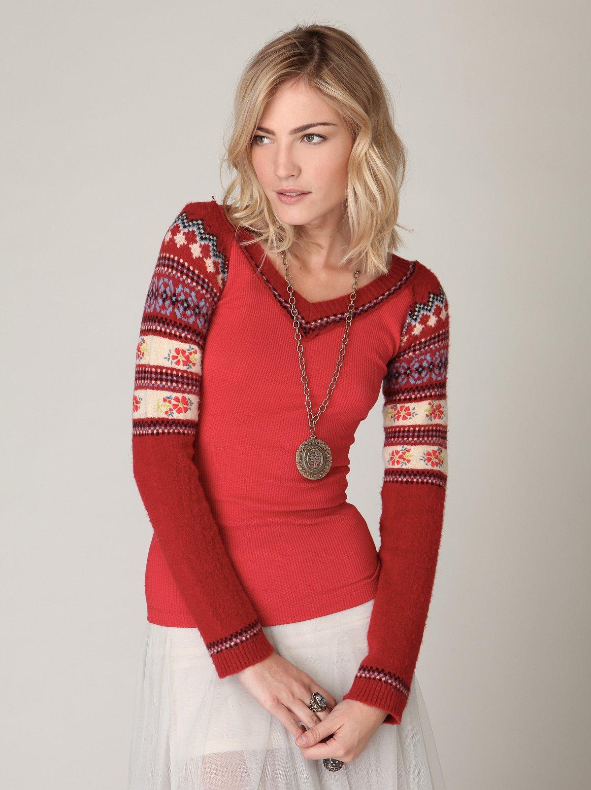 We The Free Fairisle Sweater Sleeve Thermal