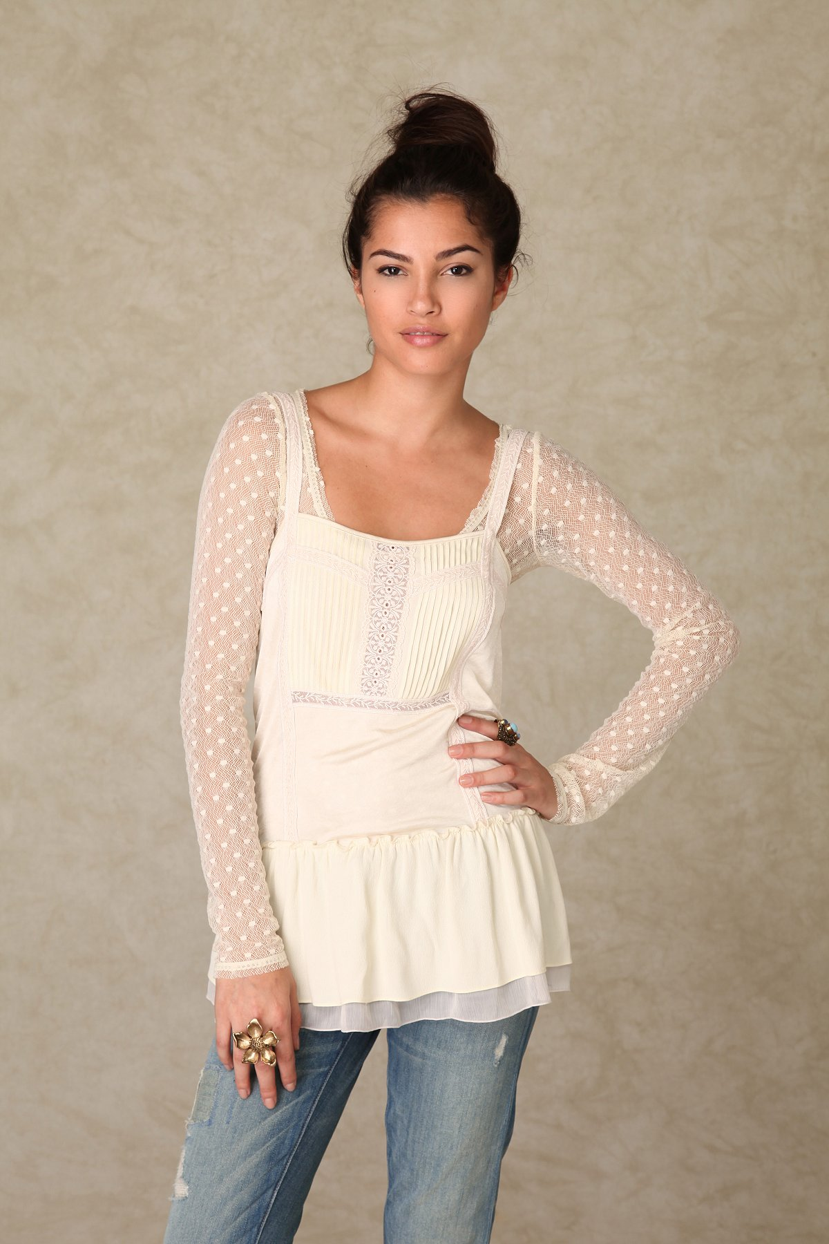 Insideout Lace Cami Tunic