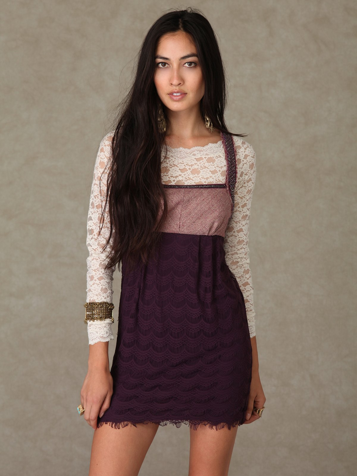 Herringbone Lace Dress