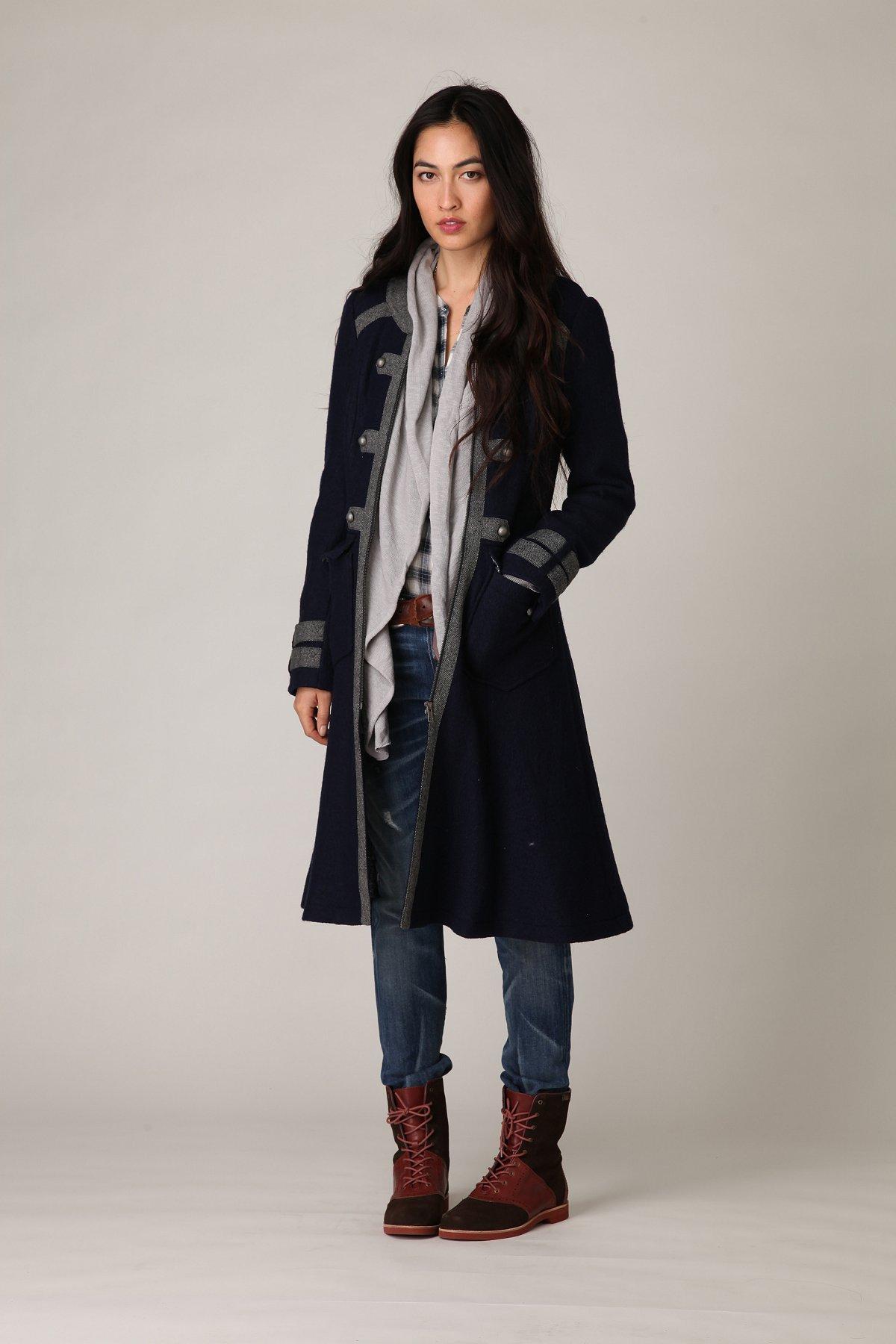 Maxi Military Wool Coat