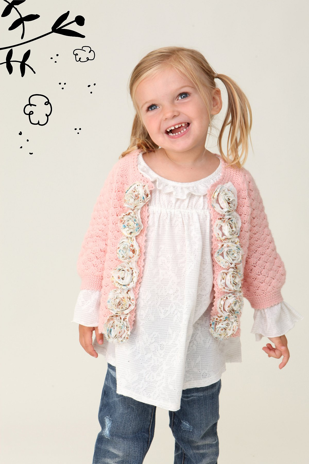 Wee People Rosie Posie Cardigan