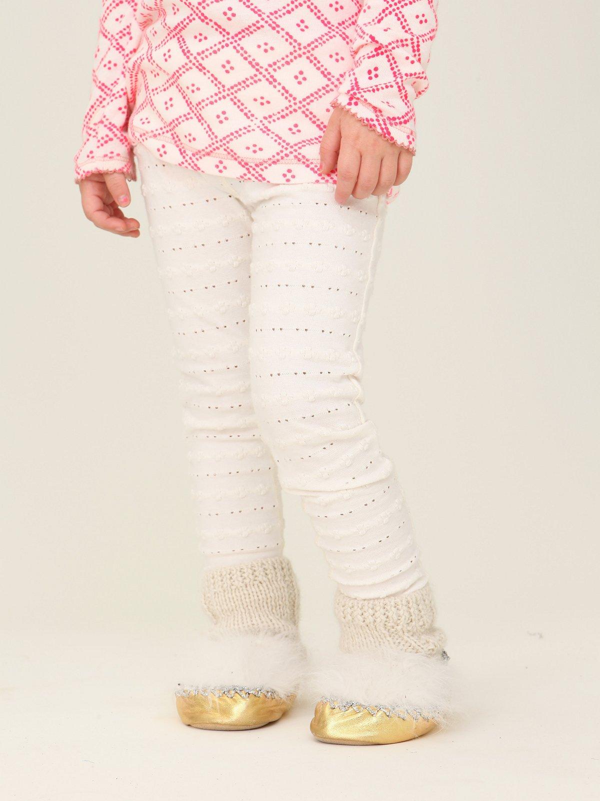 Wee People Textured Floral Leggings